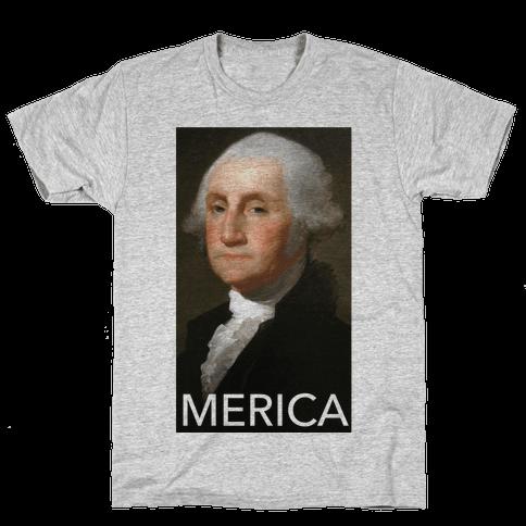 Washington's Merica Mens T-Shirt