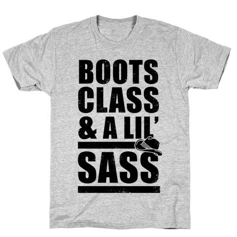 Boots, Class, & A Lil' Sass (Vintage) Mens T-Shirt