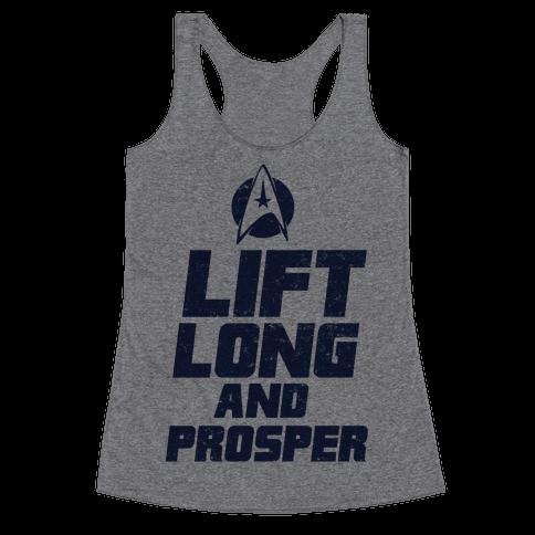 Lift Long and Prosper Racerback Tank Top