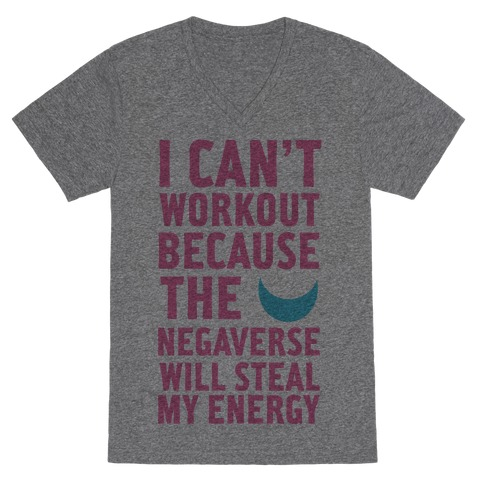 The Negaverse Will Steal My Energy V-Neck Tee Shirt
