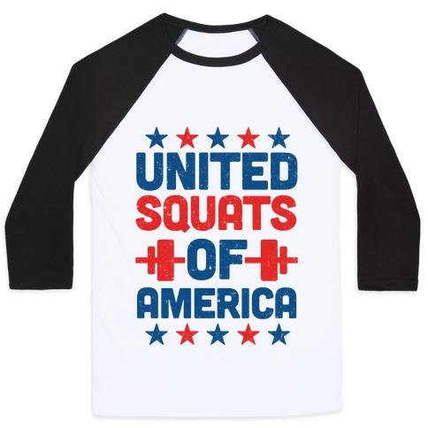 United Squats of America Baseball Tee
