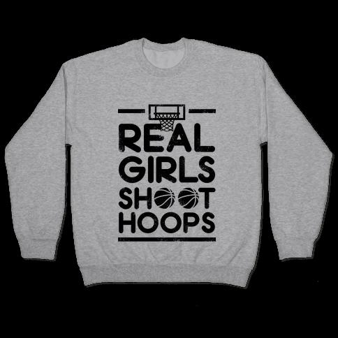 Real Girls Shoot Hoops (Vintage) Pullover