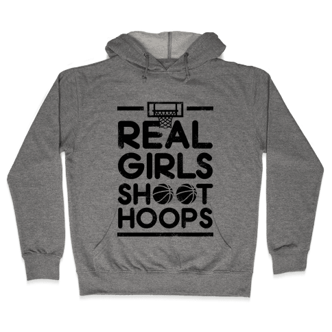 Real Girls Shoot Hoops (Vintage) Hooded Sweatshirt