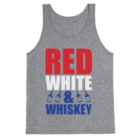 Red, White, and Whiskey Tank Top