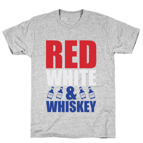 Red, White, and Whiskey Mens T-Shirt