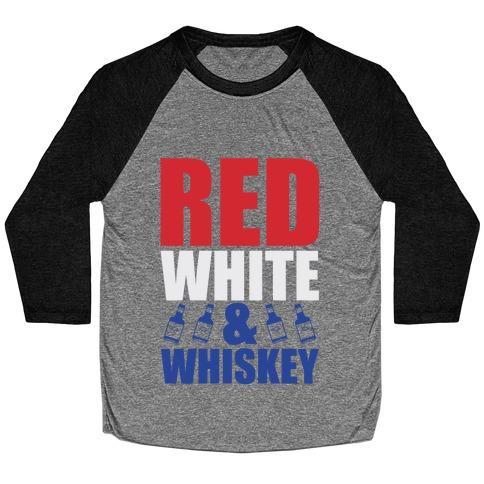 Red, White, and Whiskey Baseball Tee