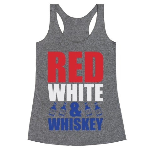 Red, White, and Whiskey Racerback Tank Top