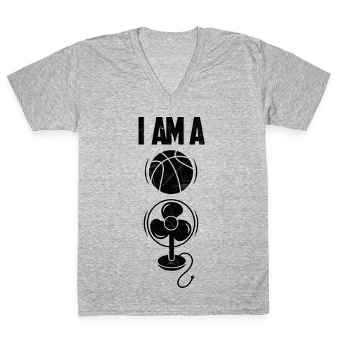 Basketball Fan V-Neck Tee Shirt