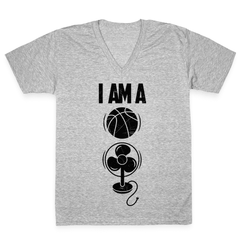 Basketball Fan V-Neck Tee Shirt