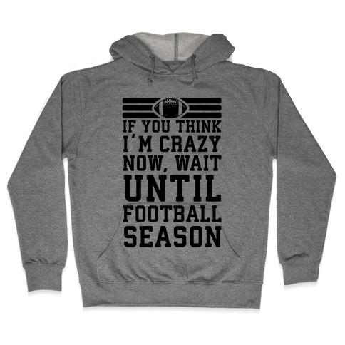 If You Think I'm Crazy Now Wait Until Football Season Hooded Sweatshirt