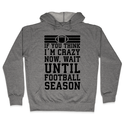 If You Think I'm Crazy Now Wait Until Football Season Hooded Sweatshirt