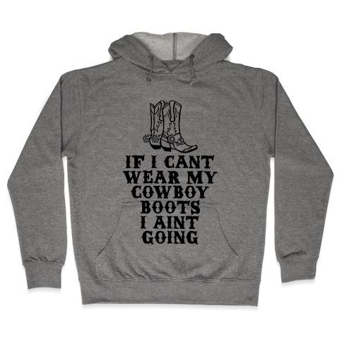 Cowboy Boots Hooded Sweatshirt