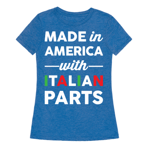 Human Made In America With Italian Parts Clothing Tee