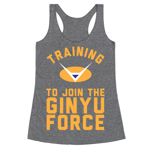 Training To Join The Ginyu Force Racerback Tank Top
