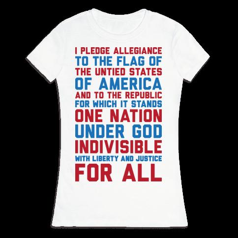 Pledge Of Allegiance Womens T-Shirt