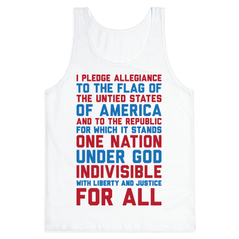 Pledge Of Allegiance Tank Top