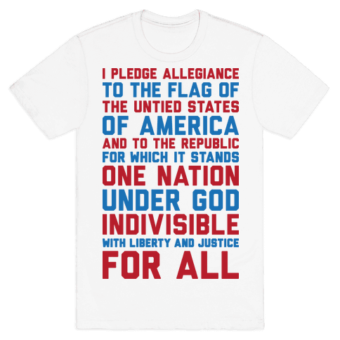 Pledge Of Allegiance Mens/Unisex T-Shirt
