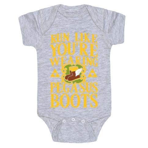 Run Like You're Wearing Pegasus Boots (light print) Baby Onesy