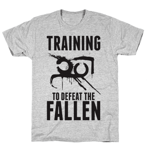 Training To Defeat The Fallen Mens T-Shirt