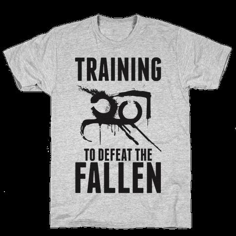 Training To Defeat The Fallen Mens/Unisex T-Shirt