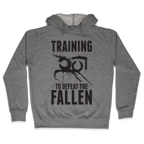 Training To Defeat The Fallen Hooded Sweatshirt