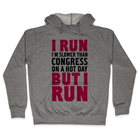 I Run Slower Than Congress On A Hot Day Hooded Sweatshirt