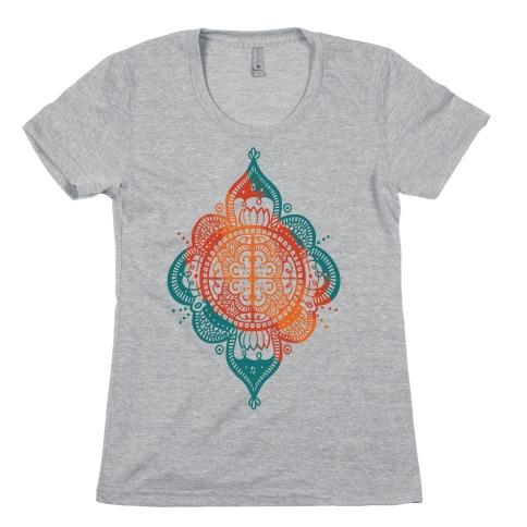 Rangoli Inspiration Pattern Womens T-Shirt