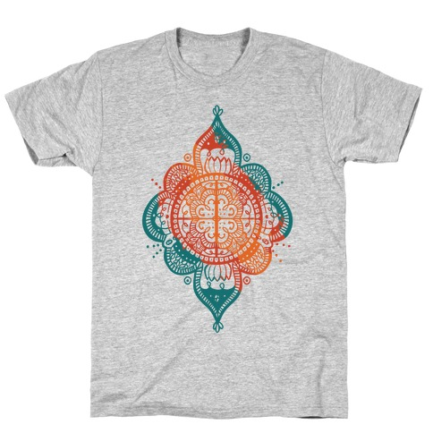 Rangoli Inspiration Pattern Mens T-Shirt