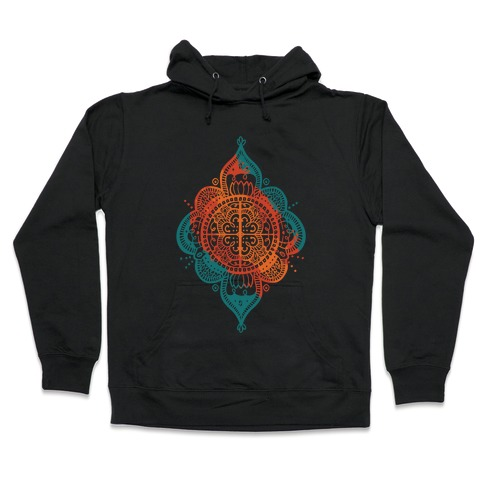 Rangoli Inspiration Pattern Hooded Sweatshirt