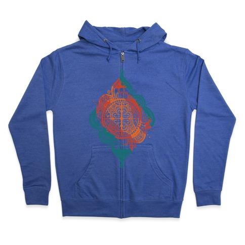 Rangoli Inspiration Pattern Zip Hoodie