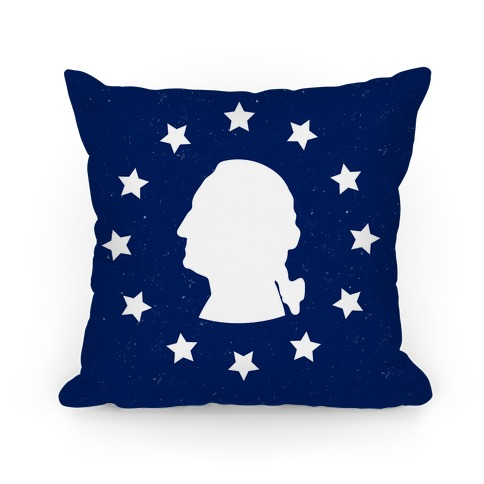 George Washington Silhouette Pillow