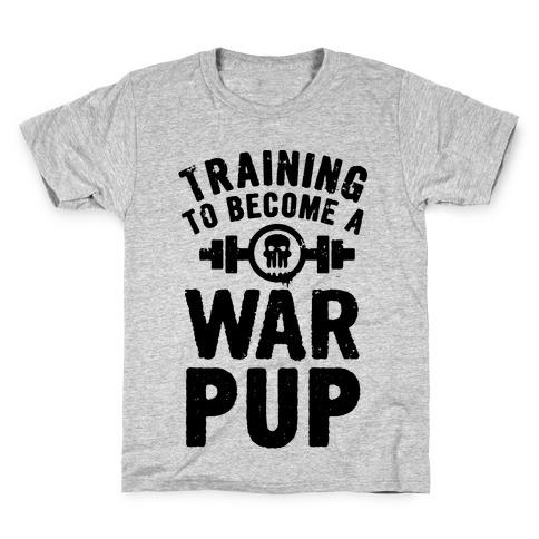 Training to Become a War Pup Kids T-Shirt