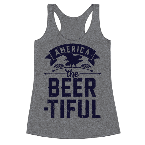 America The Beer-tiful Racerback Tank Top