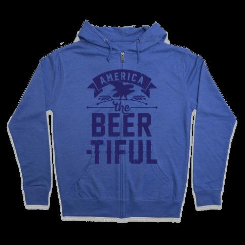 America The Beer-tiful Zip Hoodie