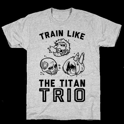 Train Like The Titan Trio Mens T-Shirt