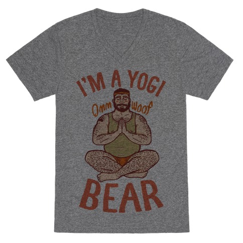 I'm A Yogi Bear V-Neck Tee Shirt