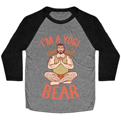 I'm A Yogi Bear Baseball Tee