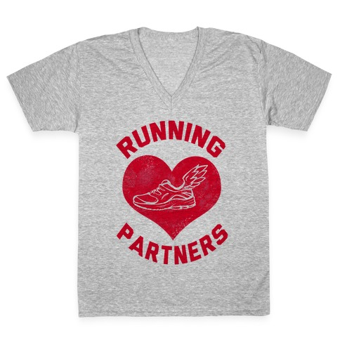 Running Partners V-Neck Tee Shirt