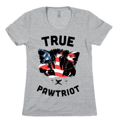 True Pawtriot Womens T-Shirt