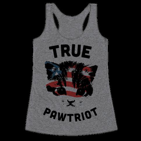 True Pawtriot Racerback Tank Top