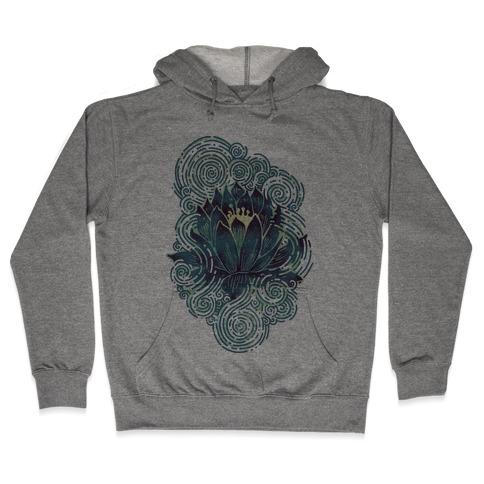 Lotus Flower Hooded Sweatshirt