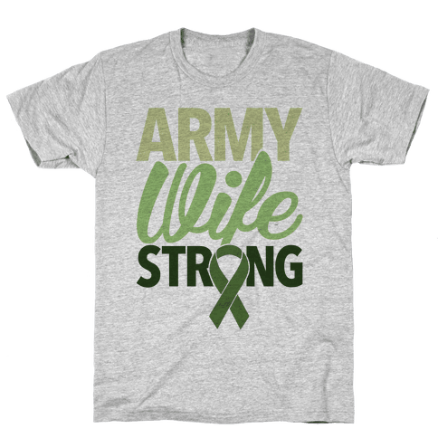 Army Wife Strong (Army Baseball Tee) Mens T-Shirt