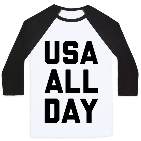 USA All Day Baseball Tee