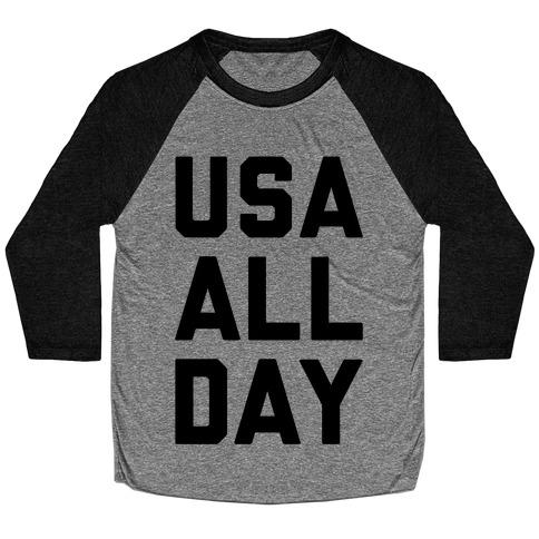 USA All Day Baseball Tee