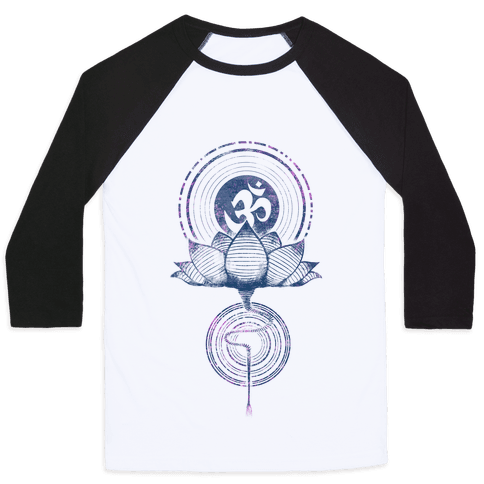 Aum and Lotus Baseball Tee