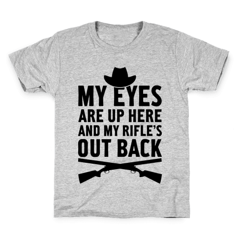 My Eyes Are Up Here Kids T-Shirt