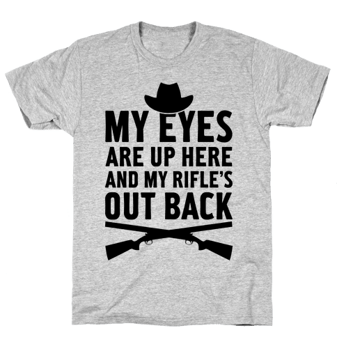 My Eyes Are Up Here Mens T-Shirt