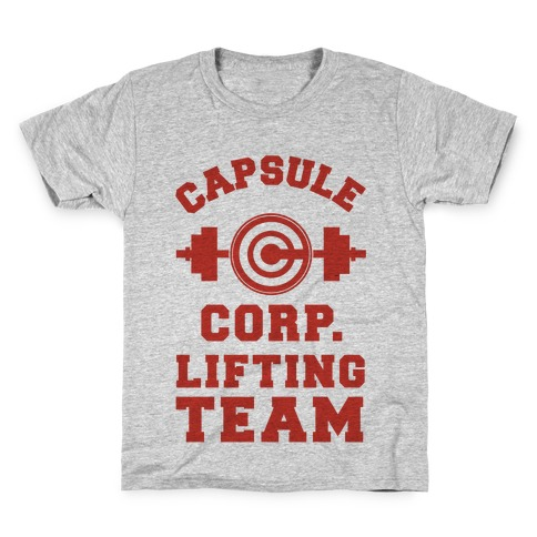 Capsule Corp. Lifting Team Kids T-Shirt