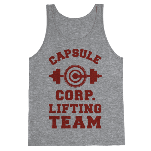 Capsule Corp. Lifting Team Tank Top