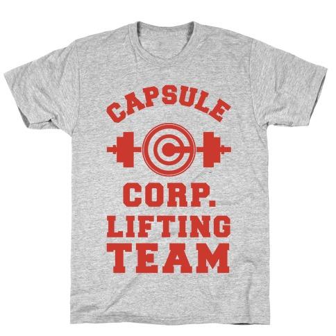 Capsule Corp. Lifting Team T-Shirt